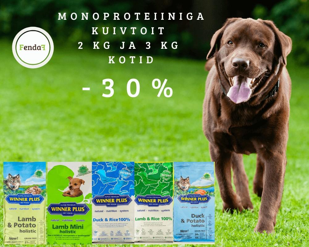 monoproteiin kuivtoit
